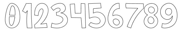 Cartoonilo Outline Font OTHER CHARS