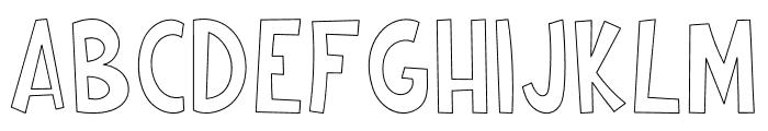 Cartoonilo Outline Font UPPERCASE