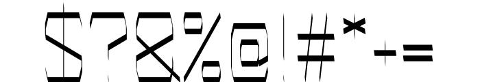 Carved regular Font OTHER CHARS