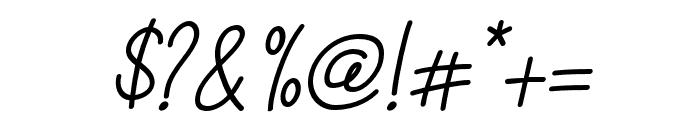 Casablanca-Italic Font OTHER CHARS