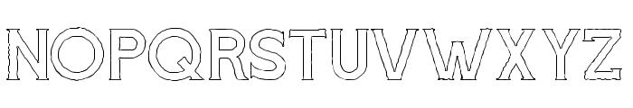 Cascade-Rough Outline Font UPPERCASE