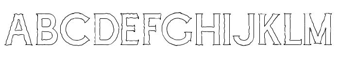 Cascade-Rough Outline Font LOWERCASE