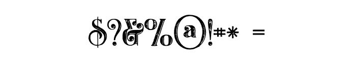 Castile Inline Grunge Font OTHER CHARS