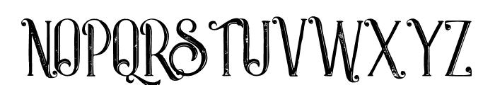 Castile Inline Grunge Font UPPERCASE