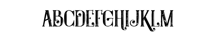 Castile Inline Grunge Font LOWERCASE