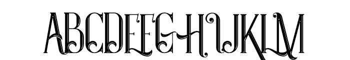 Castile Inline Font UPPERCASE
