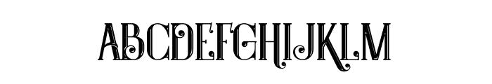 Castile Inline Font LOWERCASE