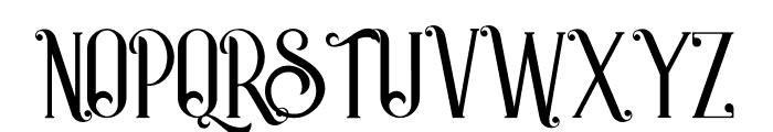 Castile Regular Font UPPERCASE