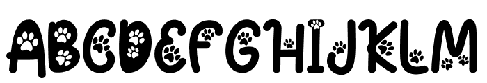 Cat Paw Font UPPERCASE