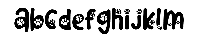 Cat Paw Font LOWERCASE