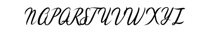 Cataleya Font UPPERCASE