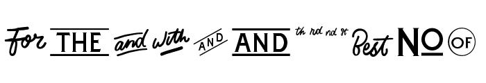 Catchword Font UPPERCASE