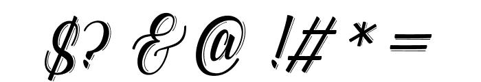 Catfish line Script Font OTHER CHARS