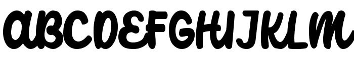 Catterpillar Font UPPERCASE