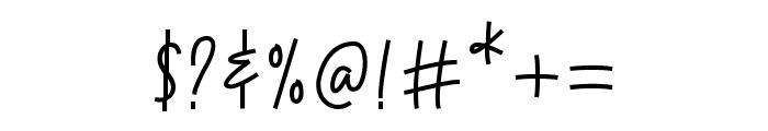 Cetekopi Script Font OTHER CHARS