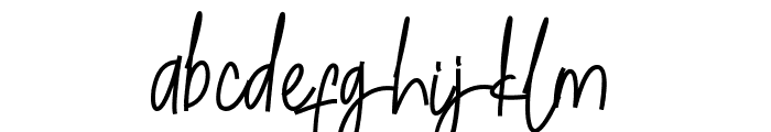 Cetekopi Script Font LOWERCASE