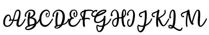 Chamomile Font UPPERCASE