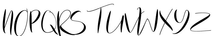 ChamomileClaireScript-Regular Font UPPERCASE