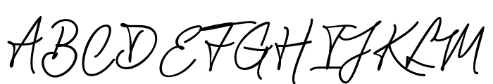 ChandelierSignature Font UPPERCASE