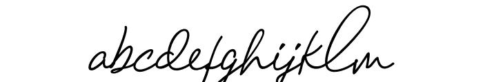 ChandelierSignature Font LOWERCASE