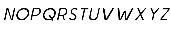 Chardy Light Slanted Font UPPERCASE