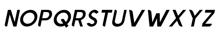 Chardy Medium Slanted Font UPPERCASE