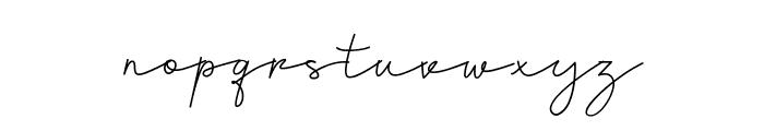 Chardy Script Font LOWERCASE