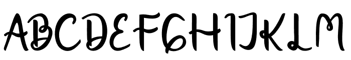 Charganolton-Regular Font UPPERCASE