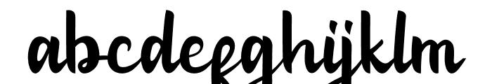 Charganolton-Regular Font LOWERCASE