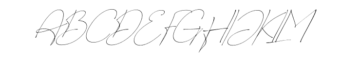 Charles Bridge Italic Font UPPERCASE