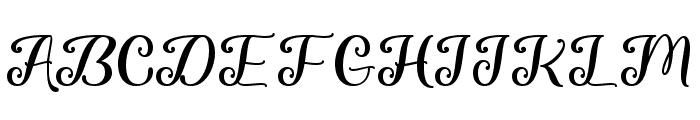 Chasing Snowflakes Regular Font UPPERCASE