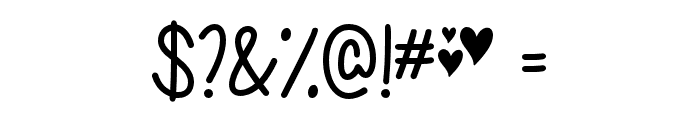 ChasingHearts-Regular Font OTHER CHARS