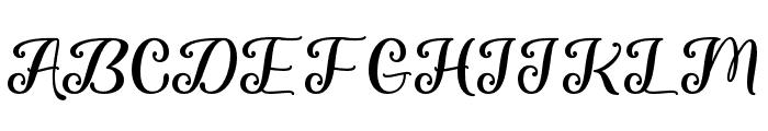 ChasingSnowflakes-Regular Font UPPERCASE