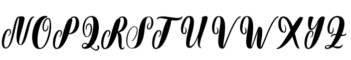 Chatting Font UPPERCASE