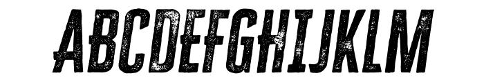 Cheddar Gothic Rough Italic Font UPPERCASE