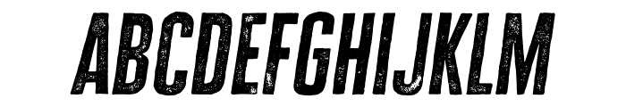 Cheddar Gothic Rough Italic Font LOWERCASE