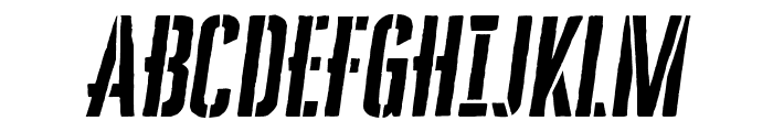 CheddarGothicStencil-Italic Font UPPERCASE