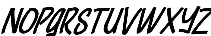 Cheeselatte-Italic Font UPPERCASE