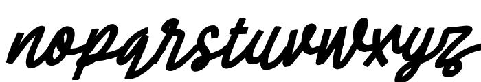 Cheeselatte-Italic Font LOWERCASE