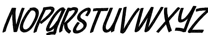 Cheeselatte Rust Italic Font UPPERCASE