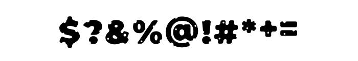 Cheeseman Love Display Font OTHER CHARS