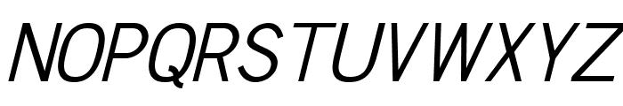 Chester Sans Book Italic Font UPPERCASE