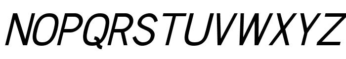 Chester Sans Italic Font UPPERCASE