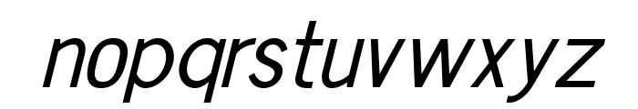 Chester Sans Italic Font LOWERCASE