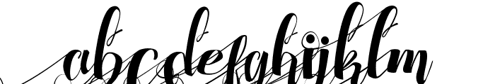 Chocolate Heart Left Swashes Font LOWERCASE