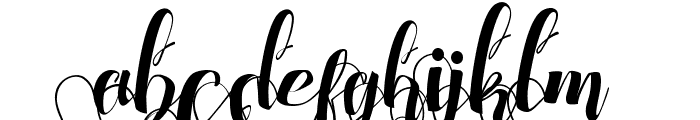 Chocolate Heart Love Under Font LOWERCASE
