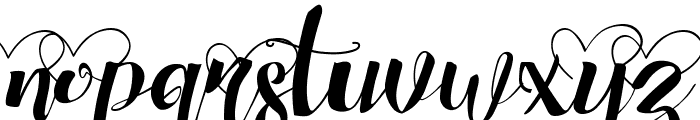 Chocolate Heart Love Font LOWERCASE