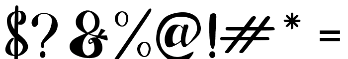 Chocolate Heart Font OTHER CHARS