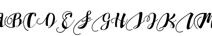 Chocolate Heart Font UPPERCASE