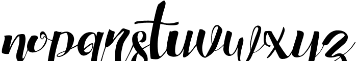Chocolate Heart Font LOWERCASE